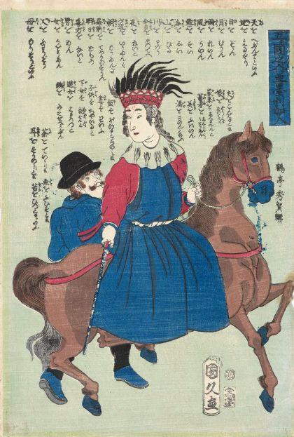 print by utagawa kunihisa americans